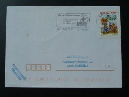10 Aube Bar Sur Seine 2004 - Flamme Sur Lettre Postmark On Cover - Marcophilie (Lettres)