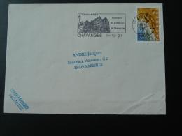 10 Aube Chavanges Maisons à Colombages - Flamme Sur Lettre Postmark On Cover - Mechanical Postmarks (Advertisement)