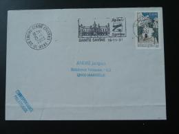 10 Aube Sainte Savine - Flamme Sur Lettre Postmark On Cover - Marcophilie (Lettres)