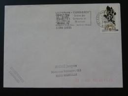 11 Aude Lezignan Corbieres 1988 - Flamme Sur Lettre Postmark On Cover - Marcophilie (Lettres)