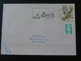 11 Aude Vinassan - Flamme Sur Lettre Postmark On Cover - Marcophilie (Lettres)