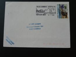 14 Calvados Ver Sur Mer Musée America Gold Beach - Flamme Sur Lettre Postmark On Cover - Seconda Guerra Mondiale