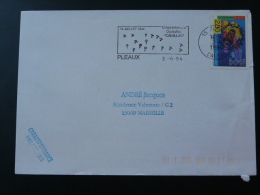 15 Cantal Pleaux Operation Cadillac Parachute - Flamme Sur Lettre Postmark On Cover - 2. Weltkrieg