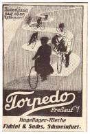 Original Werbung - 1925 - Torpedo Freilauf , Fichtel & Sachs In Schweinfurt ,Fahrrad , Bicycle !!! - Transport