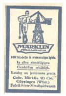 Original Werbung - 1925 - MÄRKLIN Metallbaukasten , Gebr. Märklin & Cie In Göppingen , Spielzeug !!! - Toy Memorabilia