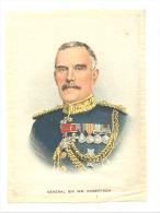 B.D.V. Cigarettes - Portrait Imprimé  Soie Ou Tissu Satiné ( 11 X 16 Cm)  -General Sir W ROBERTSON  - UK / GB - Cigarettes - Accessoires