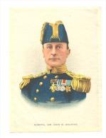 B.D.V. Cigarettes - Portrait Imprimé  Soie Ou Tissu Satiné ( 11 X 16 Cm) - Admiral Sir John R. JELLICOE - UK / GB - Cigarettes - Accessoires