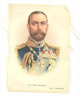 B.D.V. Cigarettes - Portrait Imprimé  Soie Ou Tissu Satiné ( 11 X 16 Cm) - H.M. King GEORGE V- UK / GB - Cigarettes - Accessoires