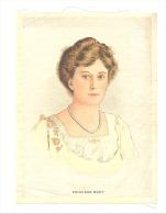 B.D.V. Cigarettes - Portrait Imprimé  Soie Ou Tissu Satiné ( 11 X 16 Cm) - Princess MARY - UK / GB - Cigarettes - Accessoires