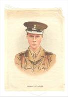 B.D.V. Cigarettes - Portrait Imprimé  Soie Ou Tissu Satiné ( 11 X 16 Cm) - Prince Of WALES - UK / GB - Cigarettes - Accessoires
