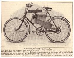 """Original Zeitungsausschnitt - 1925 - Oberurseler """" GNOM """" , Motorrad , Oldtimer , Oberursel AG , Fahrrad !!! - Motorräder"""