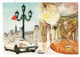 24893-LE-75-La Galette De L' Hôtel De Ville De Paris--La Fève Royale--1er Club Fabophile Mondial-----------voiture DS - Cafés, Hôtels, Restaurants