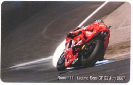 DUCATI CORSE GP LAGUNA SECA 2007 SCHEDA TELEFONICA TELECOM 2427 - Italia