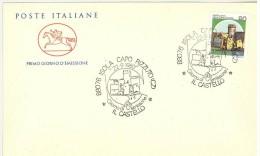 ITALIA FDC CAVALLINO - CASTELLO ISOLA CAPO RIZZUTO  LIRE 90  - ANNO 1980 - F.D.C.