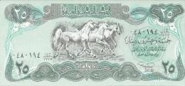 IRAK 25 Dinars Banknote von 1990 unzirkuliert siehe Scan
