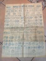 Affiche 1909 - Nouvelle Loi Monaitaire Officielle - Tableau Des Pièces Françaises Et étrangères ... MODB74 - Livres & Logiciels