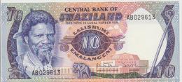Swaziland 10 Lilangeni 1985 Pick 10c UNC - Swaziland