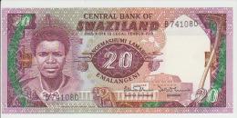 Swaziland 20 Lilangeni 1986 Pick 12 UNC - Swaziland