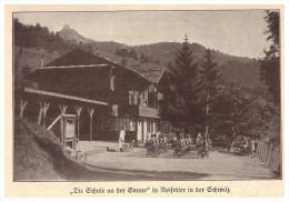 Original Zeitungsausschnitt - 1925 - Schule In Noisetier / Grimentz , Val D'Anniviers , Wallis !!! - VS Valais