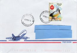 Z] RARE: Belle Enveloppe Nice Cover Togo Oiseau Bird Albatros Albatross Thalassarche Chlororhynchos Liste Rouge Red List - Marine Web-footed Birds