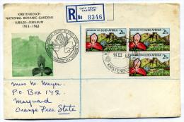 Enveloppe Recommandée Afrique Du Sud South Africa Suid Africa 1963 Botanical Society - Afrique Du Sud (1961-...)