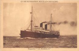 """¤¤  -   Paquebot  """" LA MARSA II """"  -  Bateau  - Compagnie De Navigation Mixte ( Cie Touache )   -  ¤¤ - Dampfer"""