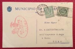 PARMA 1928 - CARTOLINA PUBBLICITARIA CON STEMMA DEL MUNICIPIO - TIMBRI E FIRMA AUTOGRAFA DEL PODESTA' - Werbepostkarten