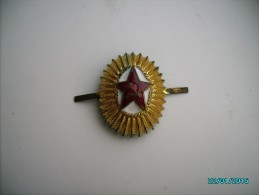 USSR  RUSSIA ARMY COCKADE , OLD TYPE , GILDED BRONZE , ENAMELS  , 0 - Militaria
