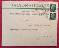 SALSOMAGGIORE 1932 - BUSTA  PUBBLICITARIA  COMITATO DI CURA ENTE SOGGIORNO E TURISMO - PER ROMA - Publicidad