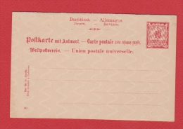 ALLEMAGNE    //  Postkarte    //  Vierge  //  Avec Coupon Réponse - Stamped Stationery