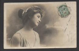 "DF / FANTAISIE / FEMMES / JEUNE FEMME ""LUTÈCE"" / CIRCULÉE EN 1903 - Women"
