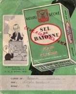 64 - BAYONNE - PROTEGE CAHIER SEL DE BAYONNE- VILLA BIAHIZPA -ROUTE DE BIARRITZ- CARTE DE FRANCE ET DEPARTEMENTS - Food