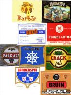 Etiquettes (label) De Biere  ( Beer, Cerveza, Birra, Bier) De Brasserie Belge - Birra