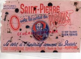 66 - PERPIGNAN - BUVARD SAINT PIERRE - PORTES DU PARADIS- APERITIF - ROUTE DE THUIR - Food