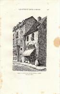 1881 - Gravure Sur Bois - Maison De David D'Angers Rue De L'hôpital à Angers - FRANCO DE PORT - Estampas & Grabados