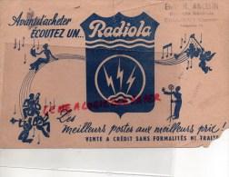 16 - CHABANAIS - ETS. H. ANCELIN ELECTRICITE GENERALE- BUVARD RADIOLA -TSF- RADIO ELECTRIQUE - Food