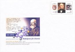 Postwaardestuk, Postal Stationary, Adolf Ritter Von Baeyer, Nobel Price, Meat, Justus Von Liebig - Nobelprijs