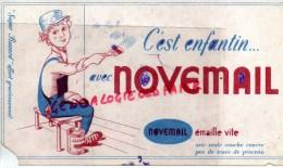 75- PARIS - 9 RUE D' ANJOU- BUVARD NOVEMAIL - PEINTURE PEINTRE PINCEAU - Buvards, Protège-cahiers Illustrés