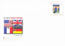 Postwaardestuk, Postal Stationary, Puzzel, Puzzle, Paris, NATO, WEU - Zonder Classificatie