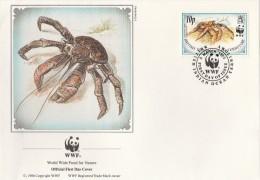 """Territoire Britannique De L'Océan Indien 1993 - FDC WWF"""" - Timbres Yvert & Tellier N° 131 à 134. - Territoire Britannique De L'Océan Indien"""