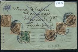 ALLEMAGNE - LETTRE DE HANNOVRE POUR ALGER (ALGERIE FRANCAISE)  Affr Au Verso  A  VOIR - Briefe U. Dokumente