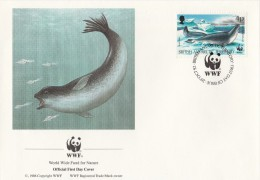 "Territoire Antarctique Britannique 1992 - FDC WWF"" - Timbres Yvert & Tellier N° 213 à 216. - FDC"