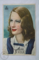 Old 1943 Movie Advertising/ Cinema Program  - Actress: Alida Valli - Publicidad