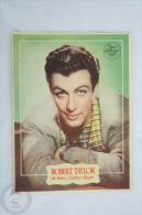 Old Movie Advertising/ Cinema Program - Actors: Robert Taylor - Bioscoopreclame