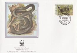 """Moldavie 1993 - FDC WWF"""" - Timbres Yvert & Tellier N° 44 à 47. - Moldavie"""