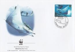 """Gibraltar  2006 - FDC WWF"""" - Timbres Yvert & Tellier N° 1152 à 1155. - Gibilterra"""