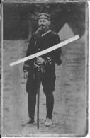 Portrait D'un Officier Français Du 120ème R.I Avec Sabre Et Couverture Roulée Ancenis Péronne 1carte Photo 14-18 Ww1 Wk1 - War, Military