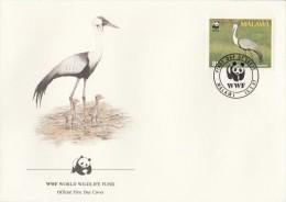 "Malawi 1987 - FDC WWF"" - Timbres Yvert & Tellier N° 489 à 492. - Malawi (1964-...)"