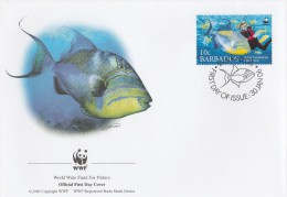 """Barbades 2006 - FDC WWF"""" - Timbres Yvert & Tellier N° 1157 à 1160 - Barbades (1966-...)"""