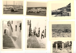 Lot X7 Photos Grèce MYKONOS LINDOS OLYMPE Greece C.1950 - Places